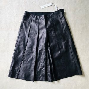 Marc Jacobs Lamb Leather Black Skirt